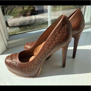 Kelsi Dagger Brown braided heels